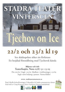 Affisch Tjechov on Ice 2013 Stadra Teater